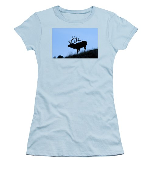 Bull Elk Silhouette Women's T-Shirt (Athletic Fit)