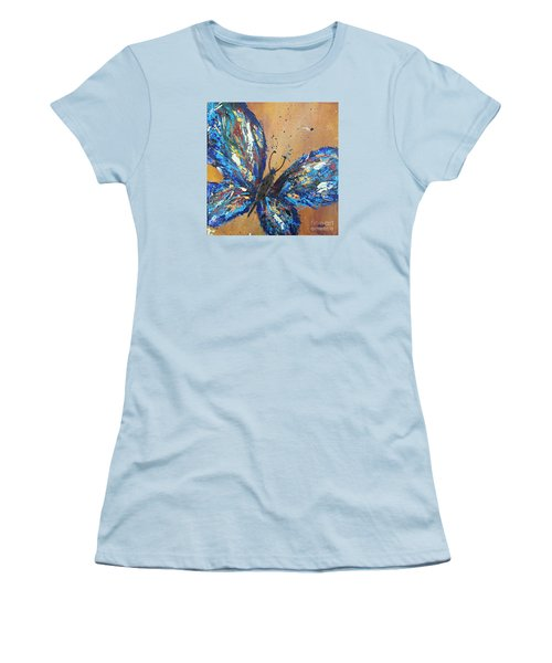 Butterfly Blue Women's T-Shirt (Athletic Fit)