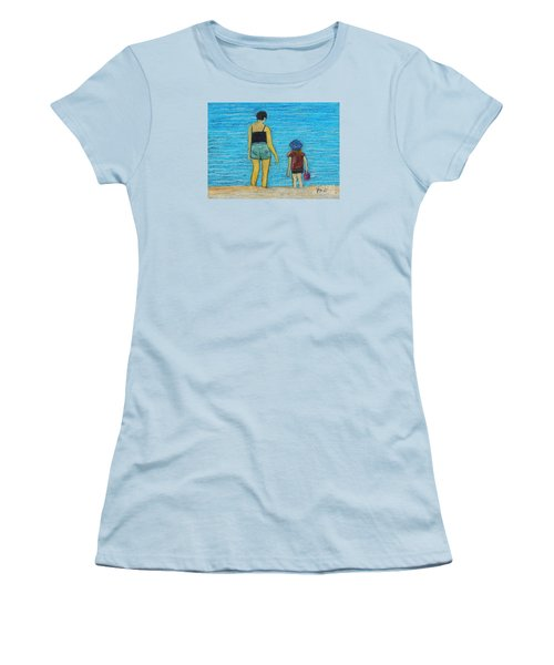 By The Sea Women's T-Shirt (Junior Cut) by Reb Frost