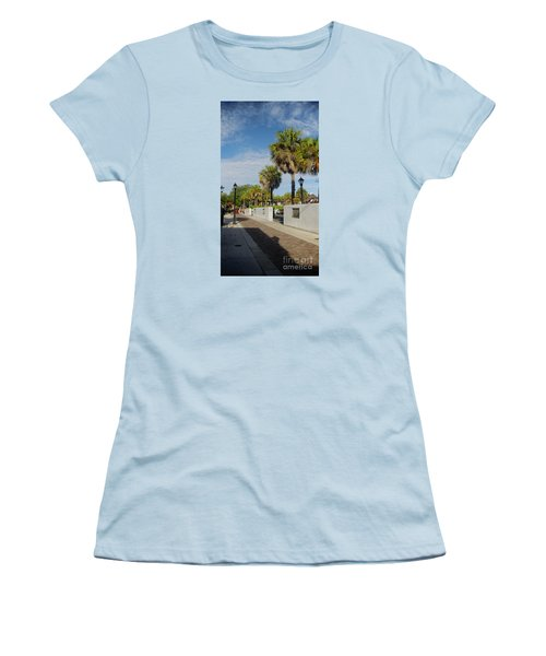 Cabbage Palms Along Hypolita Street Women's T-Shirt (Athletic Fit)