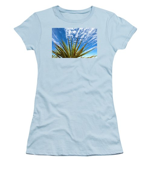 Cactus And Blue Sky Women's T-Shirt (Junior Cut) by Amyn Nasser