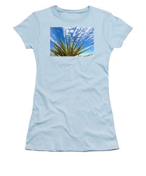 Cactus And Blue Sky Women's T-Shirt (Junior Cut) by Amyn Nasser