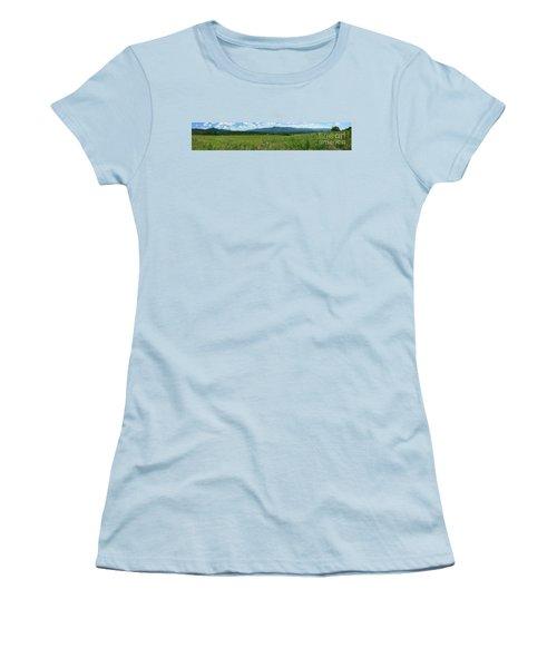 Women's T-Shirt (Junior Cut) featuring the photograph Cades Valley by Geraldine DeBoer