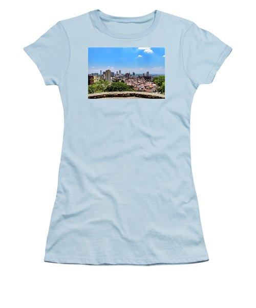 Cali Skyline Women's T-Shirt (Junior Cut) by Randy Scherkenbach