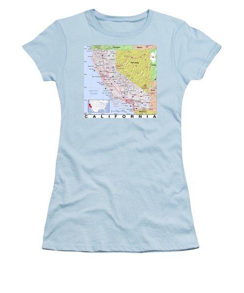 California Modern Map Women's T-Shirt (Athletic Fit)