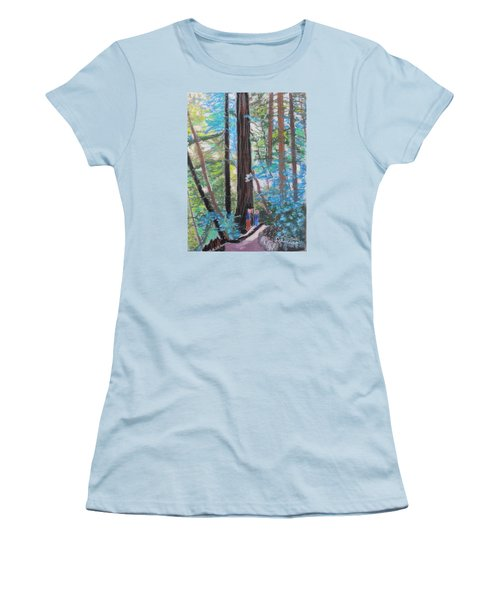California Redwoods Near San Jose Women's T-Shirt (Athletic Fit)