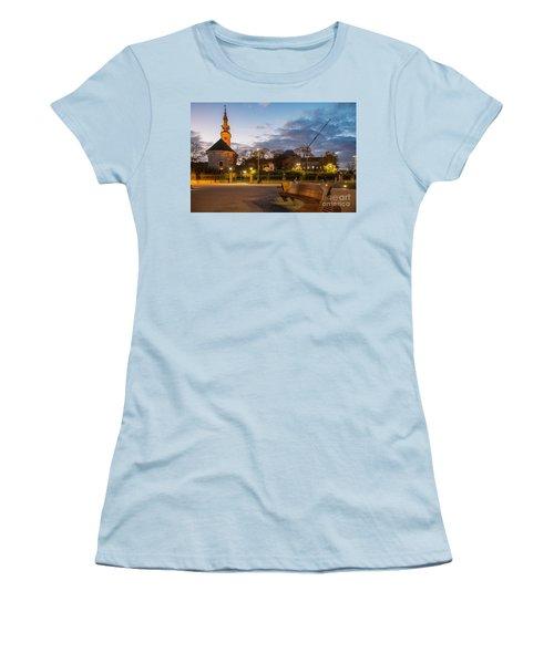 Calm Twilight In Novi Sad Vojvodina Women's T-Shirt (Athletic Fit)