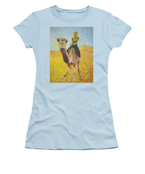 Camel At Work Women's T-Shirt (Athletic Fit)