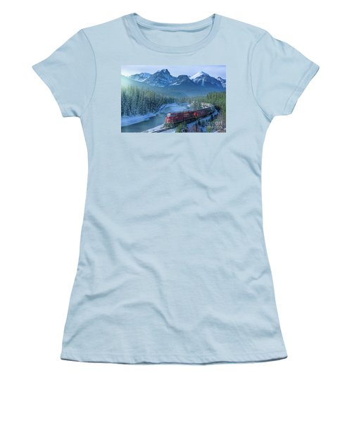 Canadian Pacific Railway Through The Rocky Mountains Women's T-Shirt (Junior Cut) by Rod Jellison