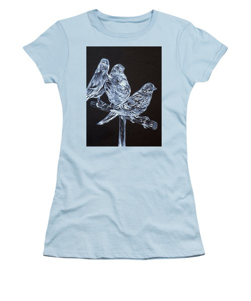 Canaries Women's T-Shirt (Junior Cut) by Fabrizio Cassetta