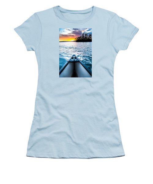Canoeing In Paradise Women's T-Shirt (Junior Cut) by Parker Cunningham