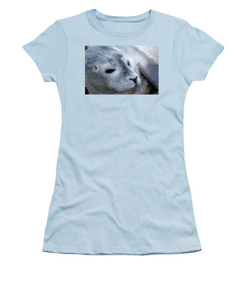 Cape Ann Seal Women's T-Shirt (Junior Cut) by Mike Martin