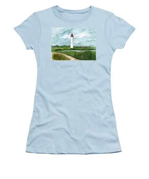 Cape May Lighthouse Women's T-Shirt (Athletic Fit)