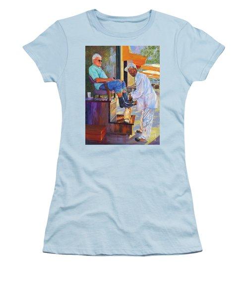 Captain Shoe Shine Women's T-Shirt (Athletic Fit)