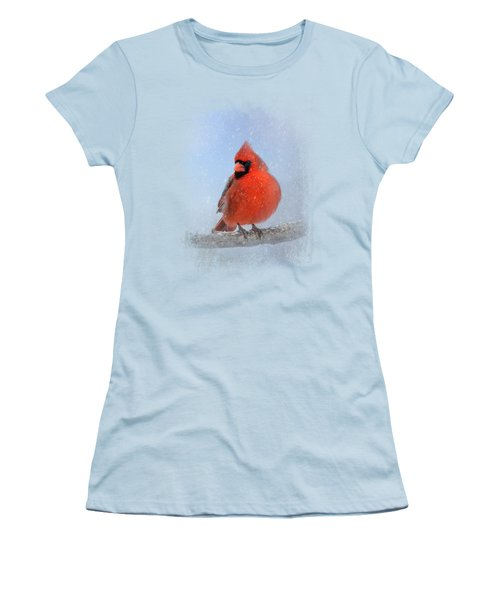 Cardinal In The Snow Women's T-Shirt (Athletic Fit)
