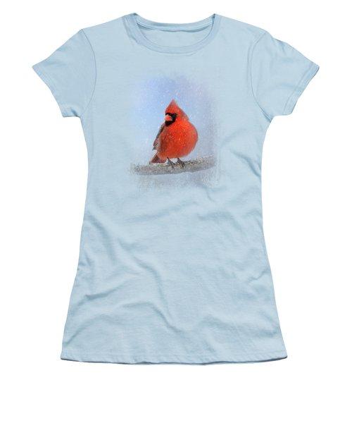 Cardinal In The Snow Women's T-Shirt (Junior Cut)
