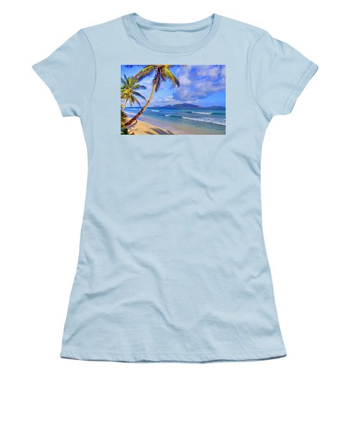 Caribbean Paradise Women's T-Shirt (Athletic Fit)