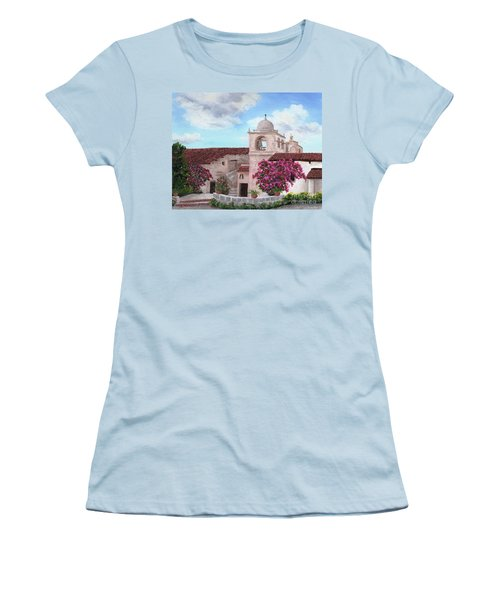 Carmel Mission In Spring Women's T-Shirt (Athletic Fit)