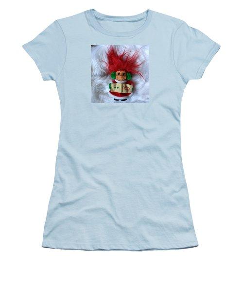 Caroling Troll Christmas 2015 Women's T-Shirt (Junior Cut) by Patricia E Sundik