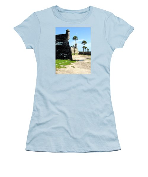 Women's T-Shirt (Junior Cut) featuring the photograph Castillo De San Marcos St Augustine Florida by Bill Holkham