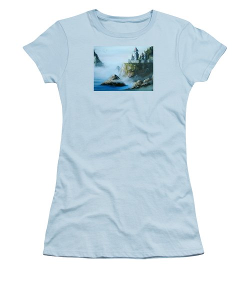 Castle At Dragon Point Women's T-Shirt (Athletic Fit)