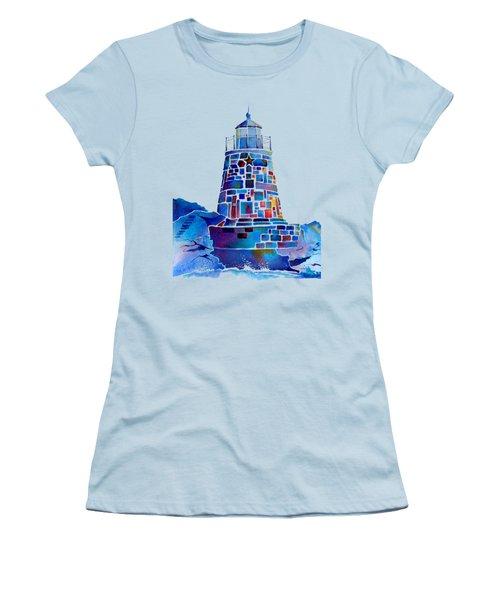 Castle Hill Newport Lighthouse Women's T-Shirt (Junior Cut) by Jo Lynch