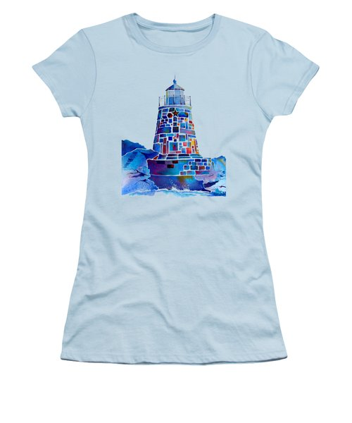 Castle Hill Newport Lighthouse Women's T-Shirt (Athletic Fit)