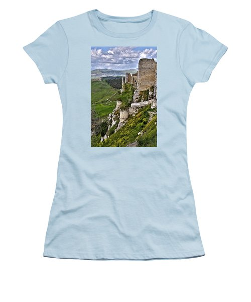 Castle Of Pietraperzia Women's T-Shirt (Athletic Fit)