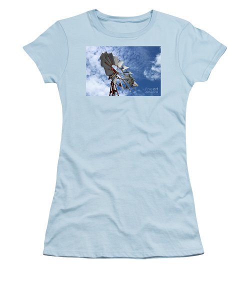Women's T-Shirt (Athletic Fit) featuring the photograph Catching The Breeze by Stephen Mitchell