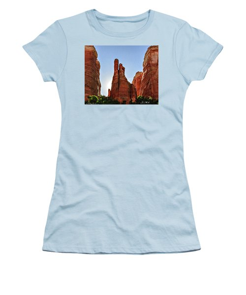 Cathedral Rock 05-155 Women's T-Shirt (Junior Cut) by Scott McAllister