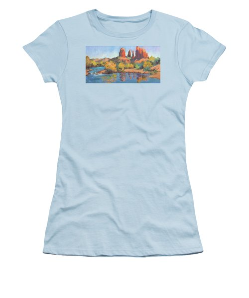 Moonrise Cathedral Rock Sedona Women's T-Shirt (Athletic Fit)