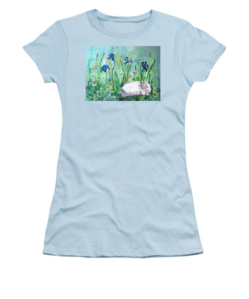 Catnap In The Garden Women's T-Shirt (Athletic Fit)