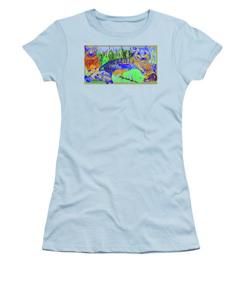 Cats And A Fiddle Women's T-Shirt (Junior Cut) by Sandy McIntire
