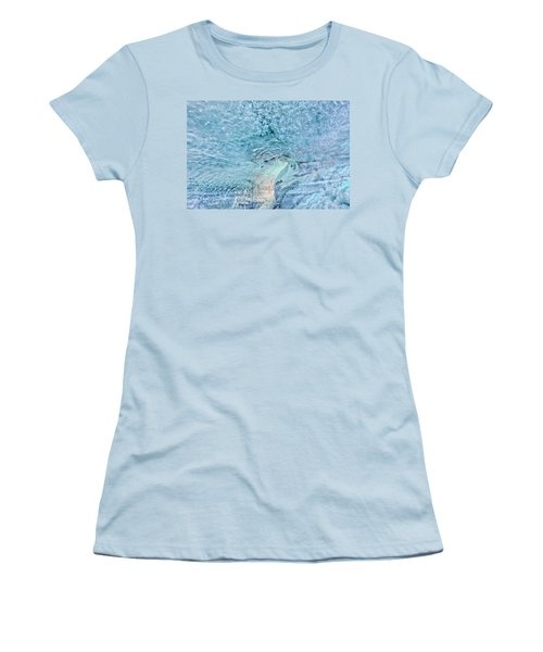 Women's T-Shirt (Athletic Fit) featuring the photograph Cave Colors by Wanda Krack