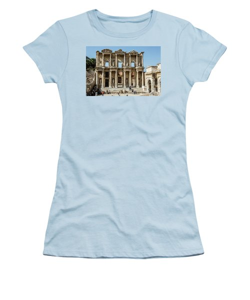 Celsus Library Women's T-Shirt (Junior Cut) by Kathy McClure
