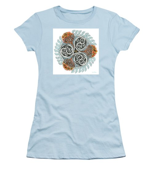 Celtic Knot With Autumn Trees Women's T-Shirt (Athletic Fit)