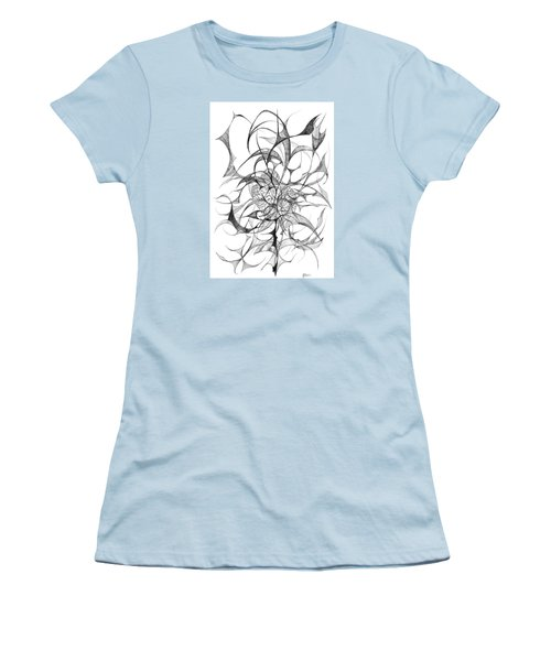 Centred Women's T-Shirt (Junior Cut) by Charles Cater