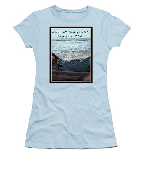 Change Your Attitude Women's T-Shirt (Junior Cut) by Irma BACKELANT GALLERIES