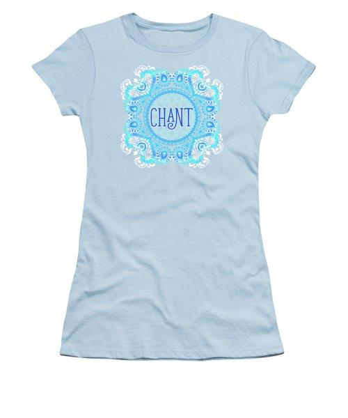 Women's T-Shirt (Junior Cut) featuring the digital art Chant by Tammy Wetzel