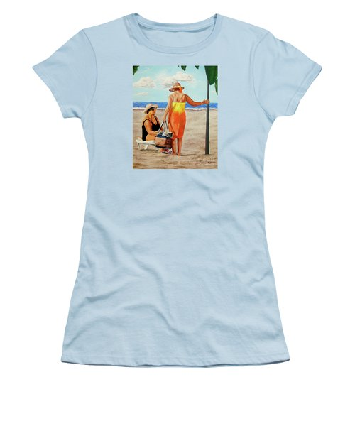 Chat On The Beach - Chat En La Playa Women's T-Shirt (Athletic Fit)