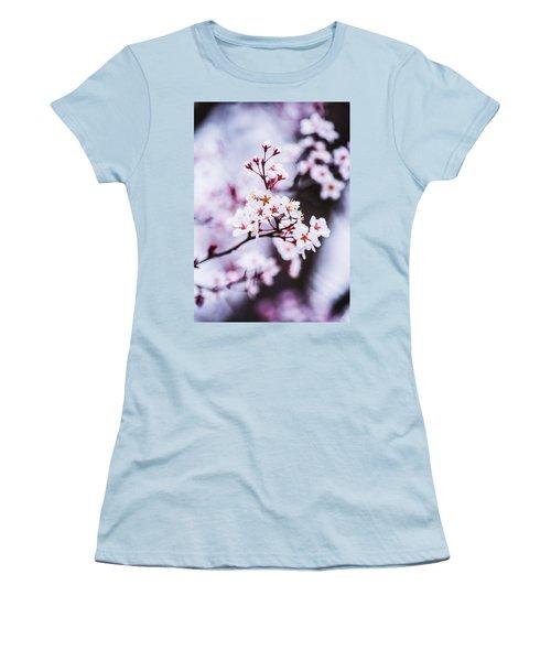 Women's T-Shirt (Junior Cut) featuring the photograph Cherry Blossoms by Parker Cunningham