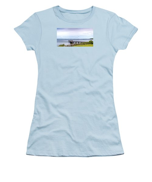 Chesapeake Bay Maryland Panorama Women's T-Shirt (Athletic Fit)