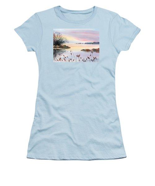 Chesapeake Bay Sunset Women's T-Shirt (Junior Cut) by Yolanda Koh