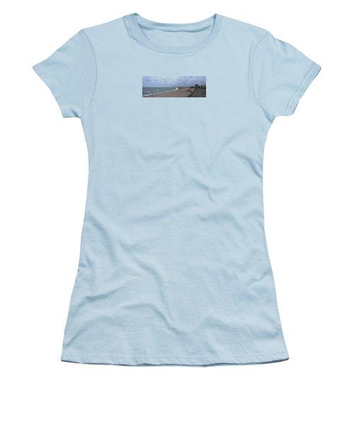 Chesil Beach November 2013 Women's T-Shirt (Athletic Fit)