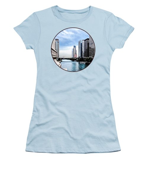 Chicago - View From Michigan Avenue Bridge Women's T-Shirt (Athletic Fit)