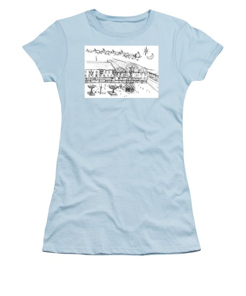 Christmas Shopping Women's T-Shirt (Athletic Fit)