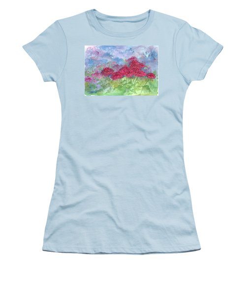 Women's T-Shirt (Junior Cut) featuring the painting Chrysanthemums by Cathie Richardson