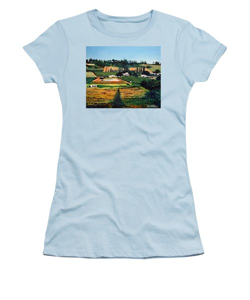 Chubby's Farm Women's T-Shirt (Junior Cut) by Tim Johnson