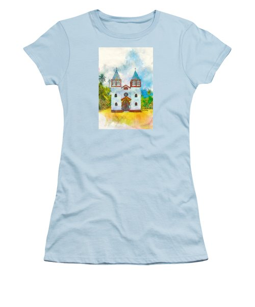 Church Of The Holy Family Women's T-Shirt (Junior Cut) by Greg Collins