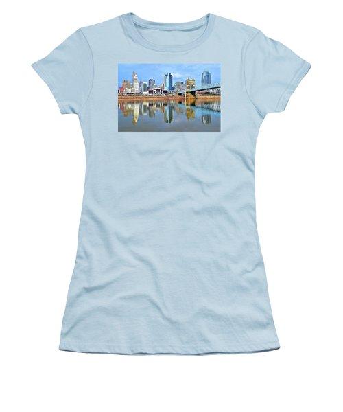 Cincinnati Ohio Times Two Women's T-Shirt (Junior Cut)